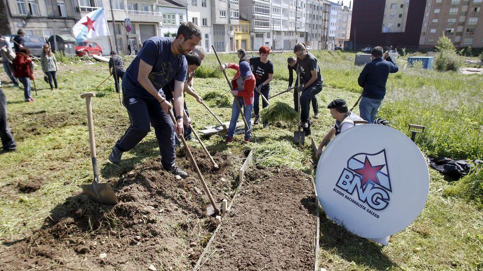 Sachando huertos urbanos en busca de votos en Lugo