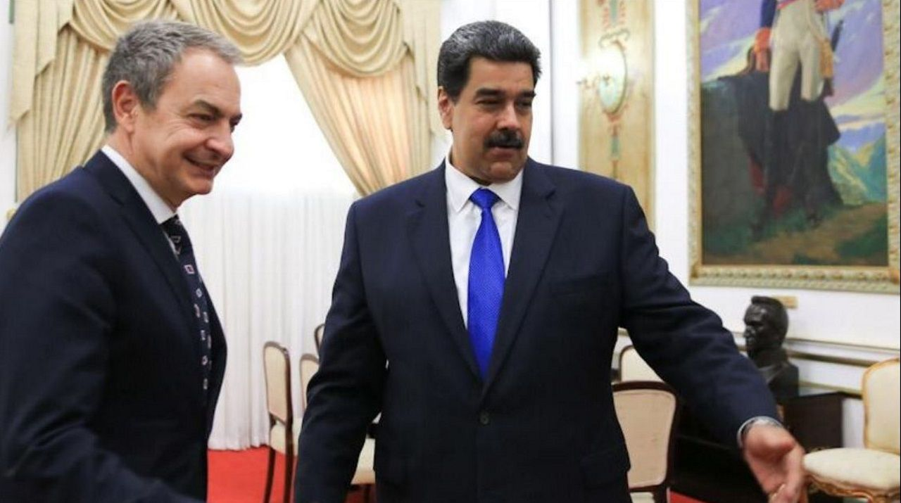 José Luis Rodríguez Zapatero se reunió este sábado en Caracas con el presidente de Venezuela, Nicolás Maduro