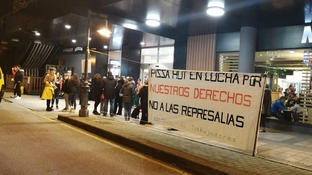 Los trabajadores de Pizza Hut se movilizan en Gijón