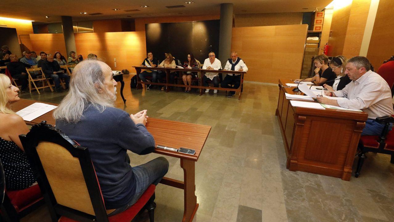 Jose Luis Costillas y Yolanda Vidal en la reunión con los directores de colegios