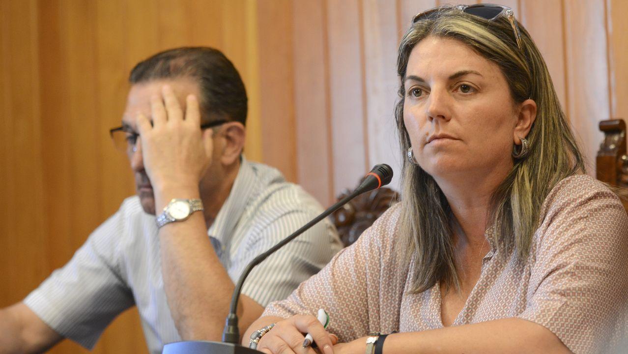 La alcaldesa de Moraña, Luisa Piñeiro
