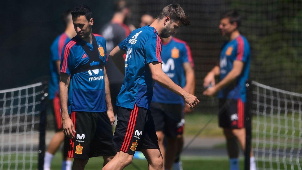 Piqué se retira del entrenamiento con molestias a cuatro días de medirse a Portugal