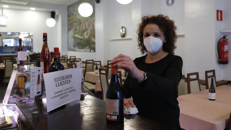 Natalia Núñez, preparando la reapertura del restaurante Vila Real de Ourense