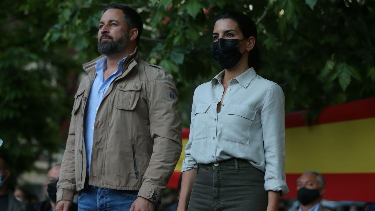 Begoña Villacís, Edmundo Bal e Inés Arrimadas, durante un mitin de campaña en Chueca