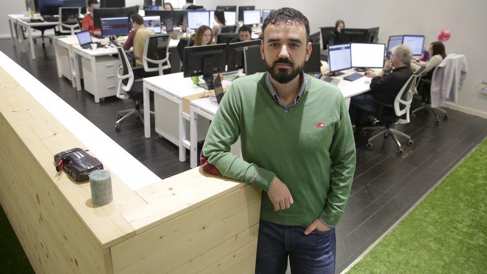 Javier Consuegra en la sede de Improving Metrics, firma especializada en estrategia digital.