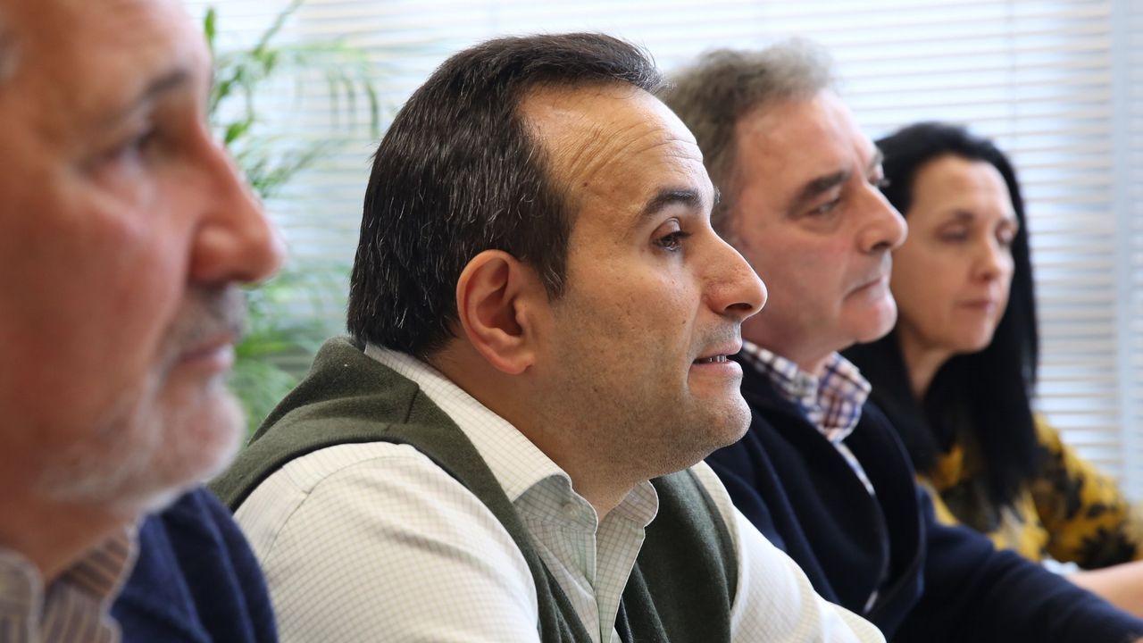 Foto de la presentación en diciembre de la gestora provincial de Vox en Ourense