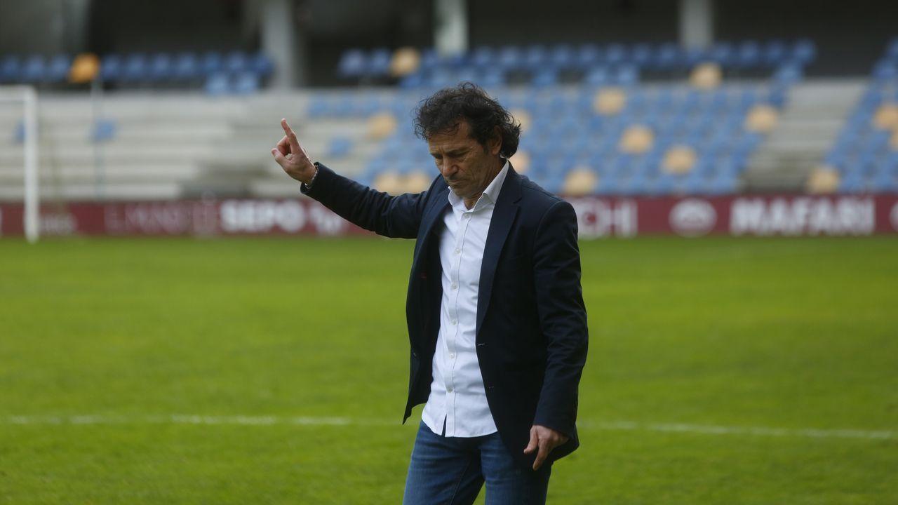 Las imágenes del partido entre el Salamanca y el Pontevedra.Imagen del partido entre el Guijuelo y el Deportivo en la primera vuelta