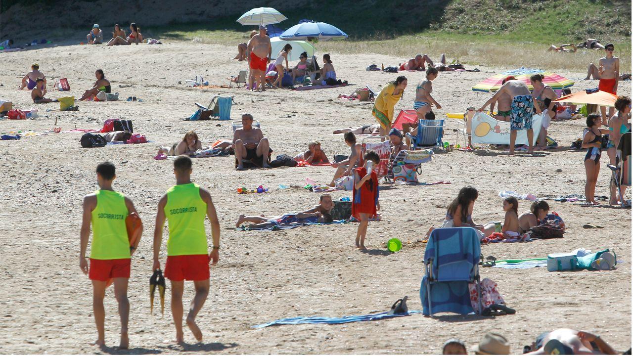 Playa de Caranza, en Ferrol