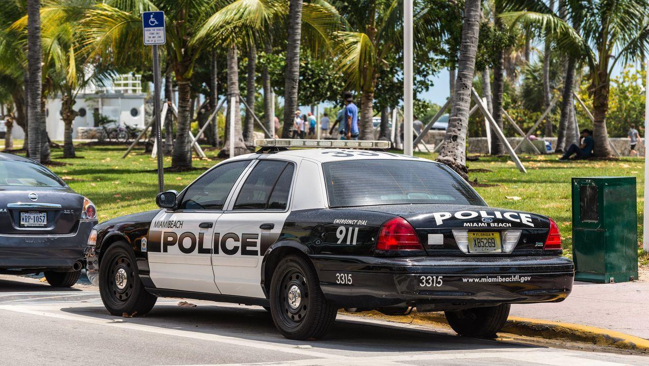 Coche de policía en Miami