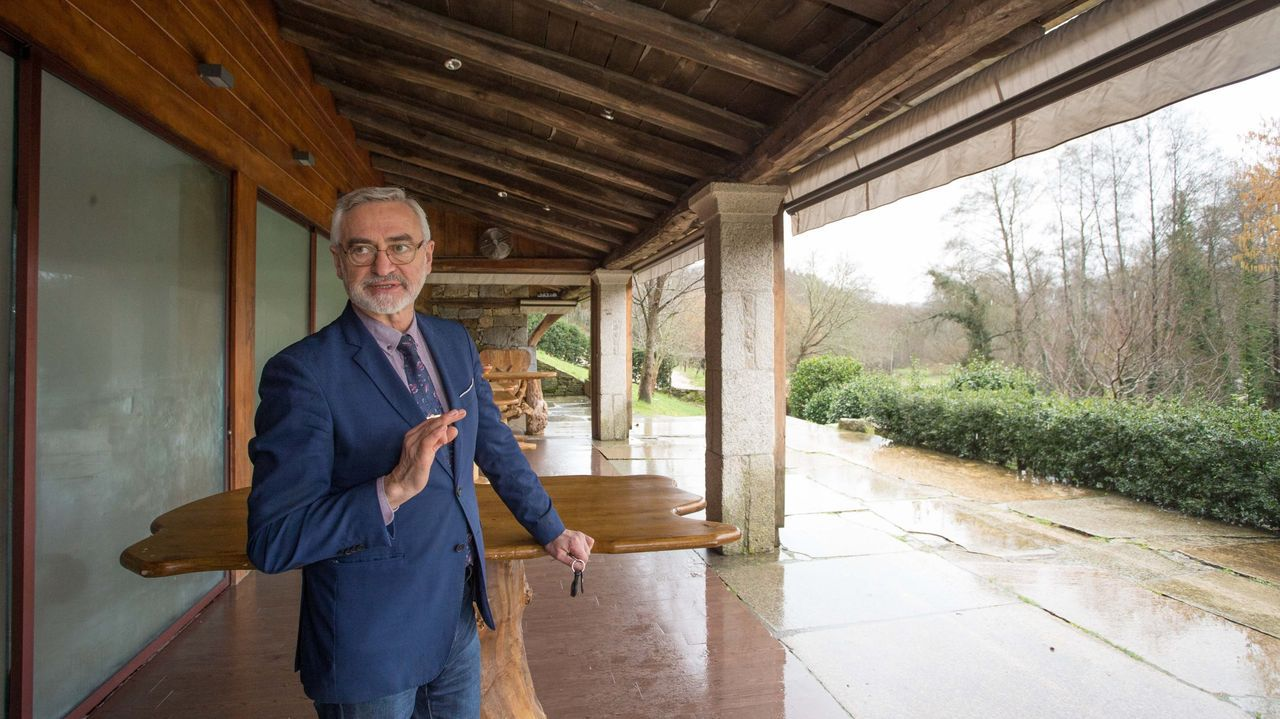 Foto de archivo de Ramiro López en La Casa Grande da Fervenza, en O Corgo