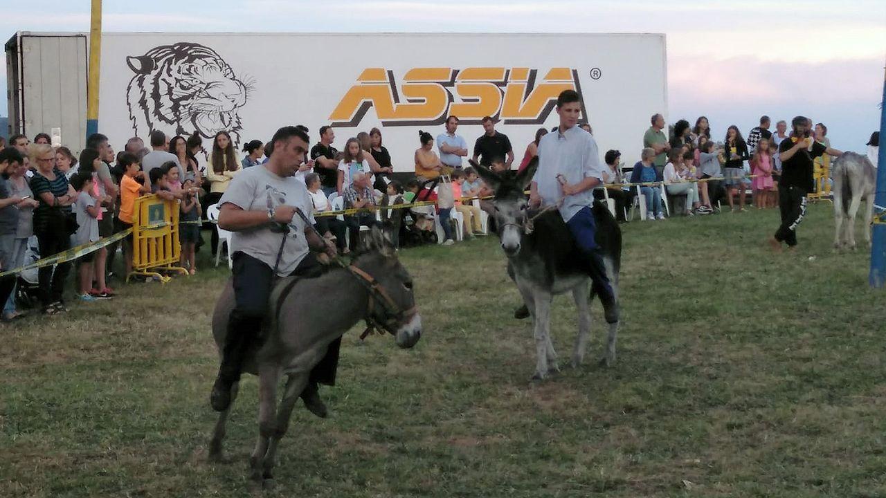 Carrera de burros de Ordiales (Siero), en 2018