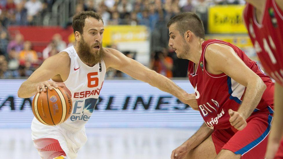 Imágenes del claro triunfo de España en el Eurobasket
