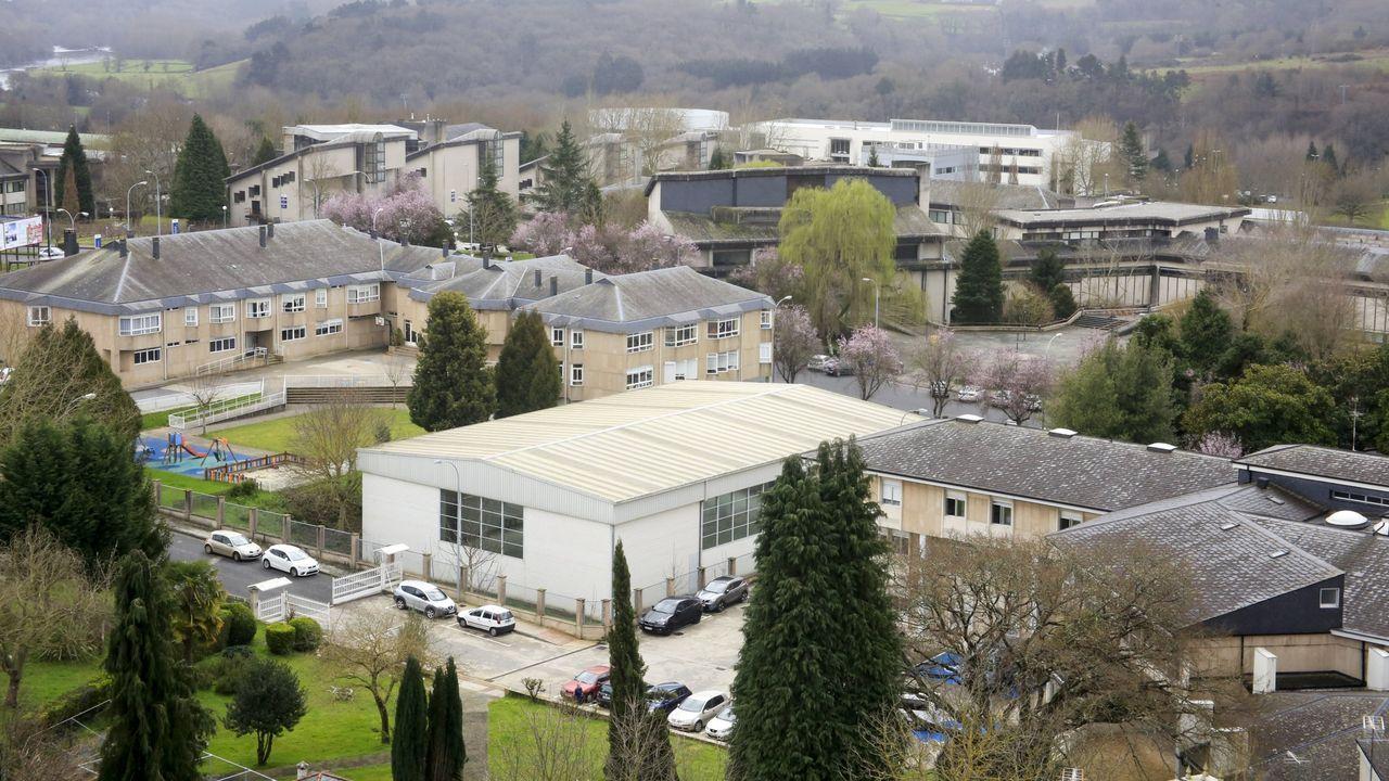 Vista de la Facultade de Veterinaria y de la Politécnica del Campus de Lugo