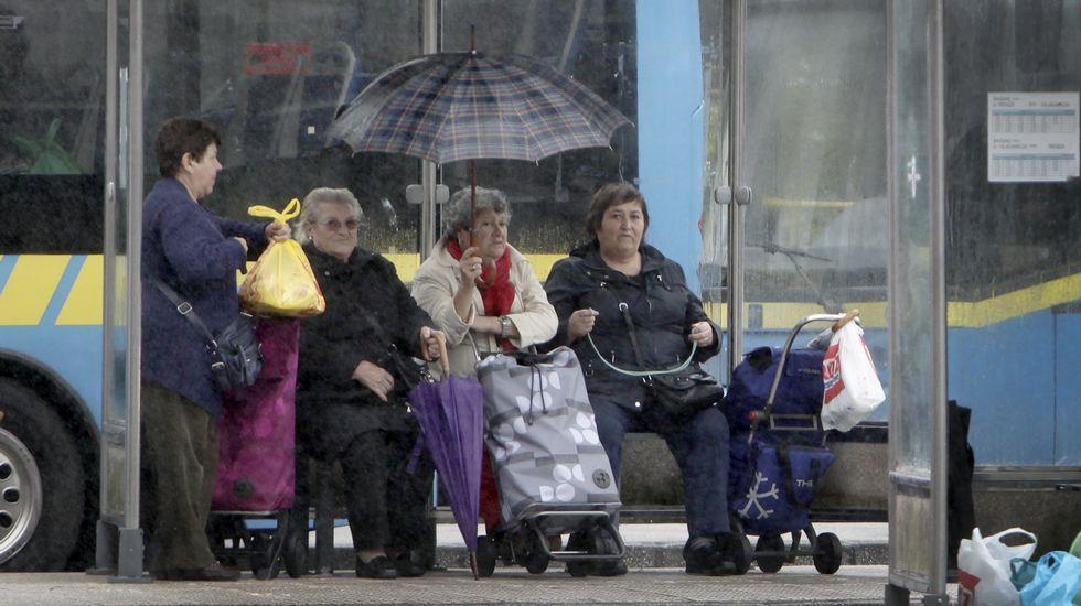 Aunque aún es verano, la estampa hoy en Galica ha sido totalmente invernal.