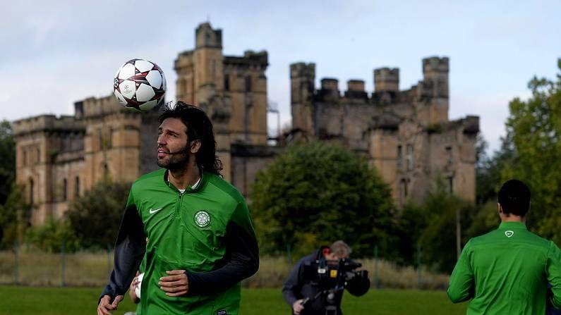 El Barça - Real Madrid, en fotos.Samaras en el entrenamiento del Celtic