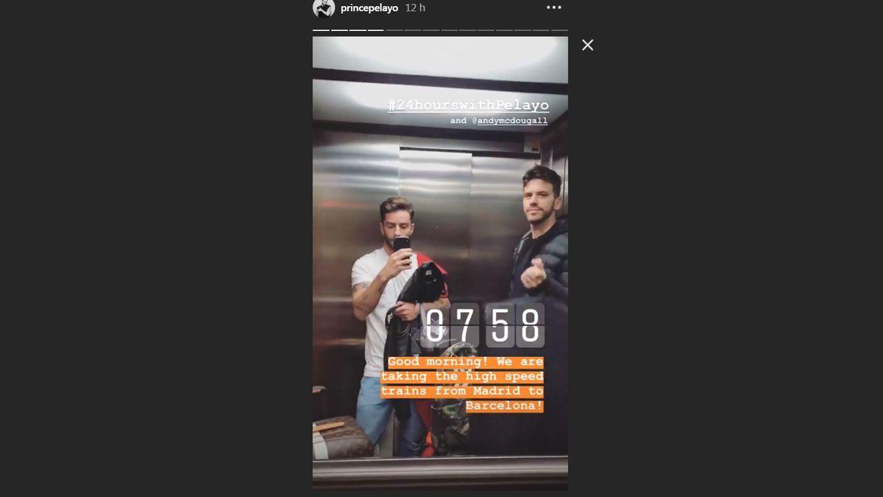 Pelayo Díaz y Andy McDougall rumbo a Barcelona
