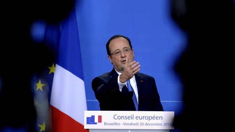 La discutida celebración de Anelka con una «quenelle».François Hollande