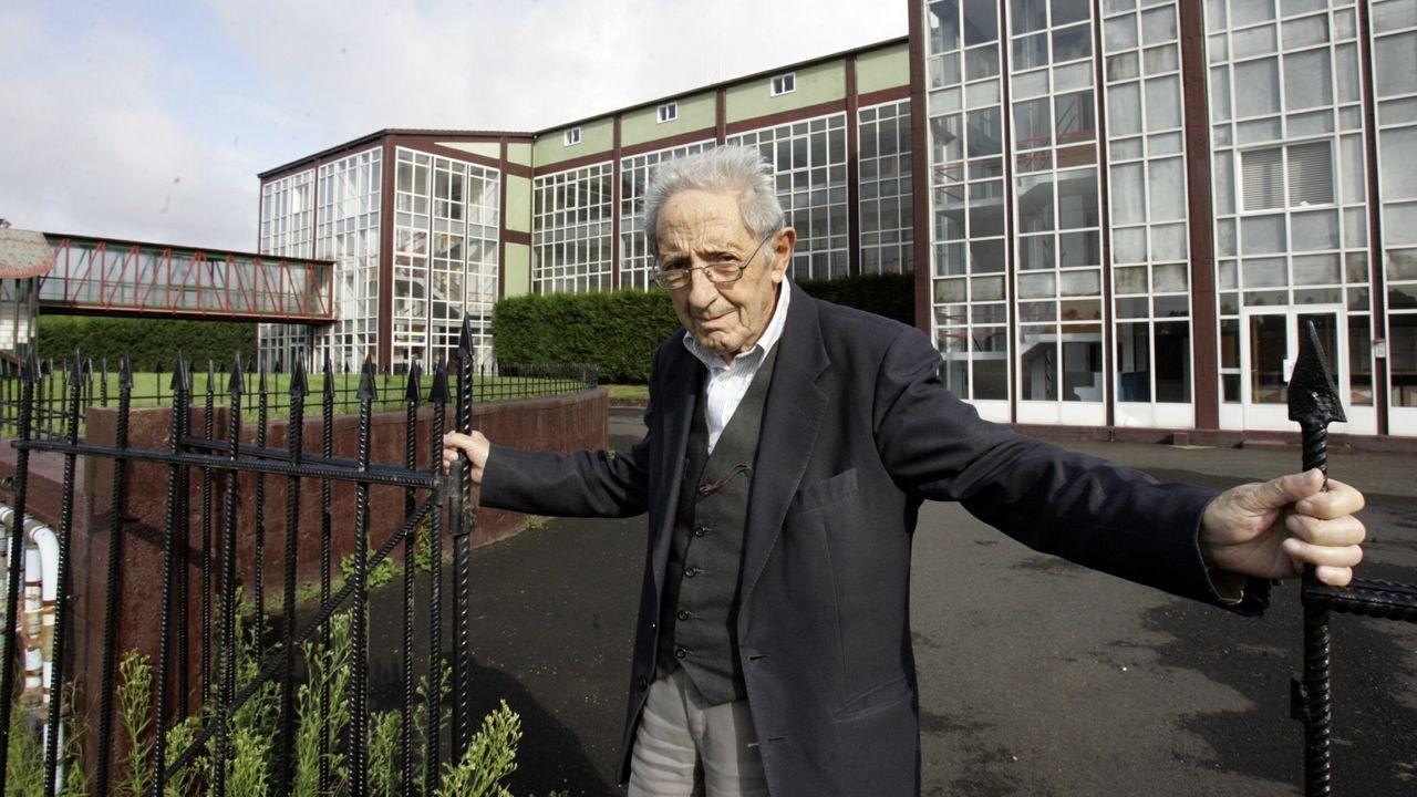 Díaz Pardo, retratado no Instituto Galego da Información, en Santiago, en setembro do 2008