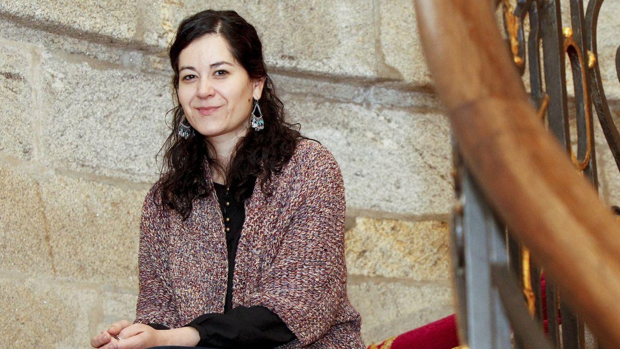 Candidatos de Galicia en Común-Anova Mareas en la presentación de su programa electoral