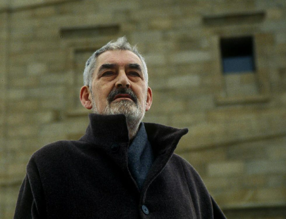 El poeta Manuel María, en una foto del 2001