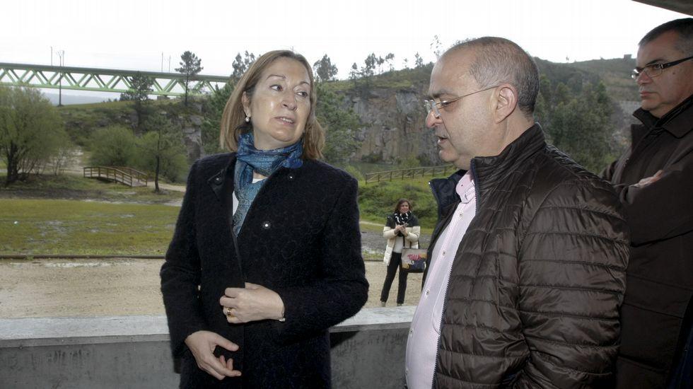 Isabel Pardo de Vera cree que el Gobierno en funciones no afectará al AVE. En la imagen, esta semana en Santiago