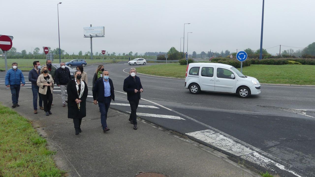 Visita de senadores y concejales del PP a la Ronda Norte de Lugo