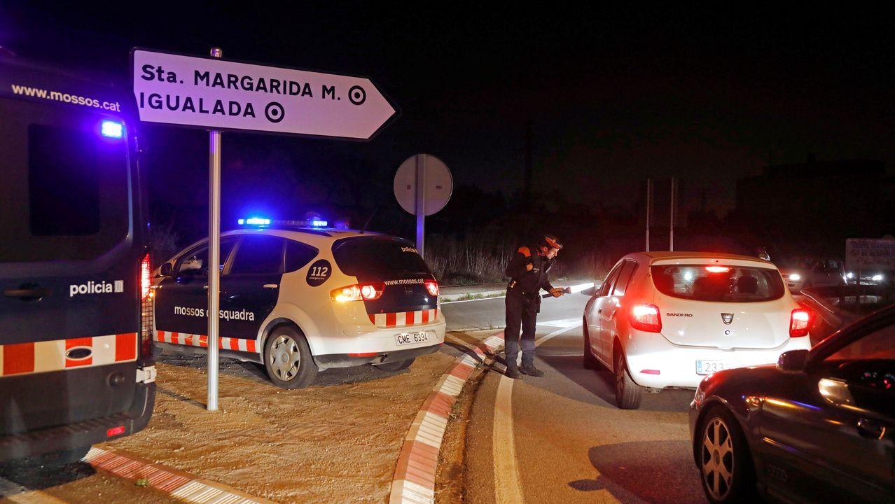 Controles policiales en la zona de confinamiento