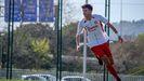 Jordi Avilés celebra un gol con el CF Damm
