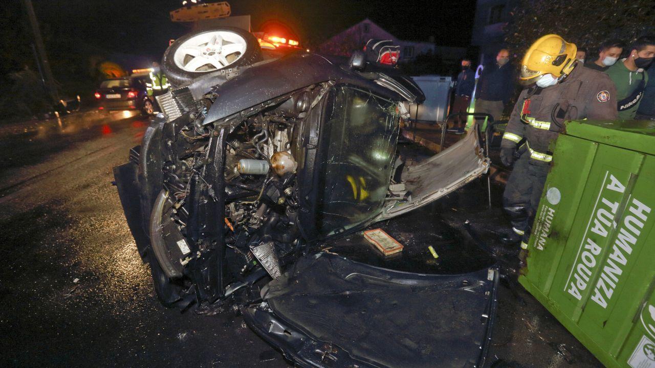 Accidente mortal en la recta de Rus, en Carballo