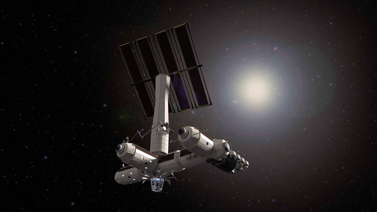 Ilustración de la futura estación espacial comercial de Axiom Space