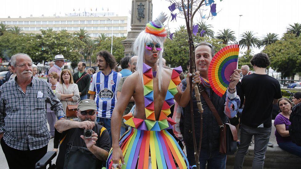 Celebración el orgullo gay en A Coruña.