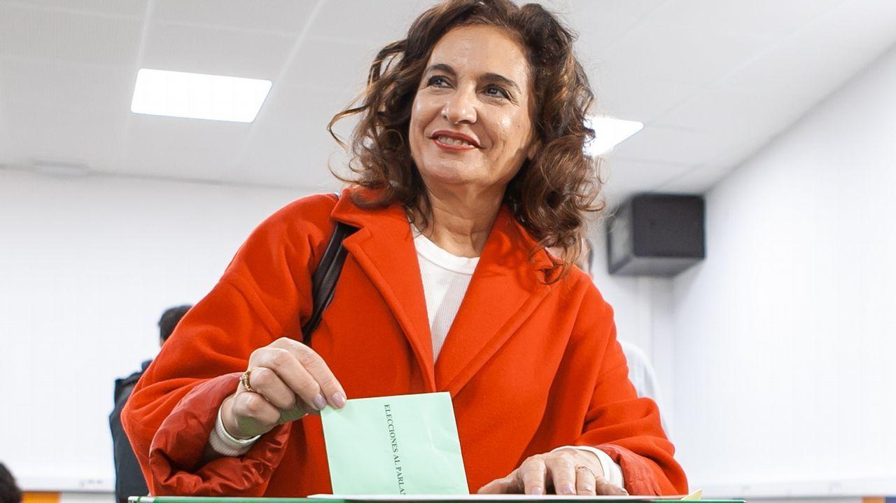 Elecciones en Andalucía. La ministra de Hacienda, María Jesús Montero