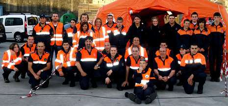 Los voluntarios de Protección Civil de toda la comarca se juntan para ayudar en las fiestas más concurridas.