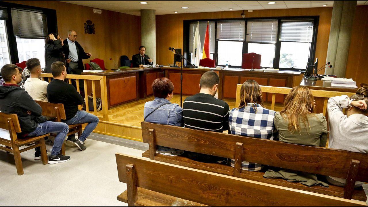 La lata desde las trincheras.Julio Fernández Gayoso y José Luis Pego, en la Audiencia Nacional