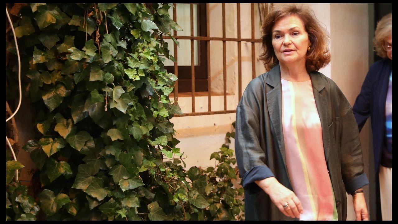 La vicepresidenta Carmen Calvo insistió en que no se moverán de su posición con Podemos