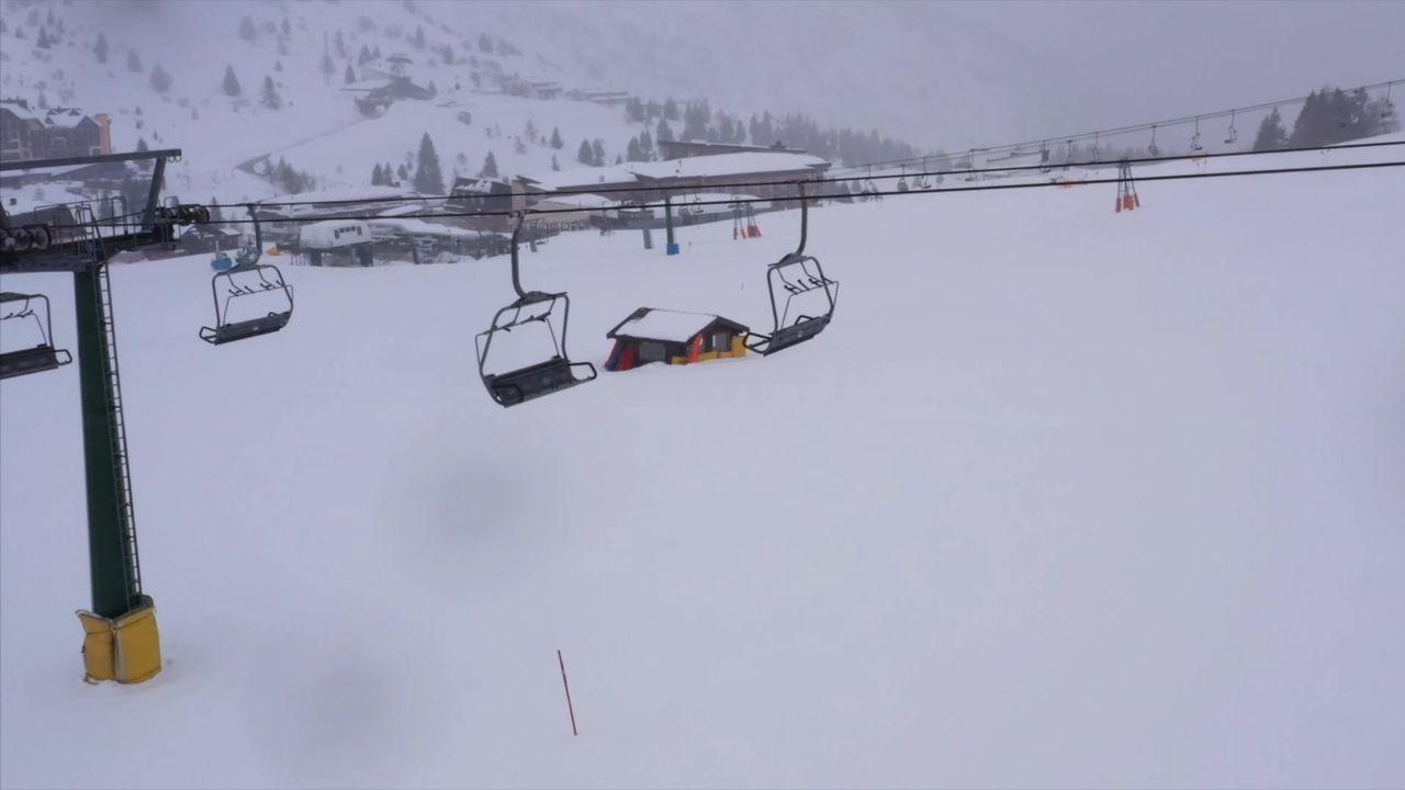 Complejo de esqui en la región italiana de Lombardia.