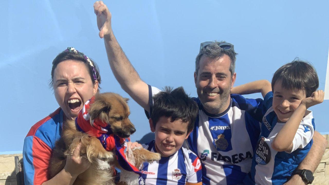 María, Hugo, Pablo y Juan (de izquierda a derecha) estarán el domingo en la grada del Nuevo Ganzábal