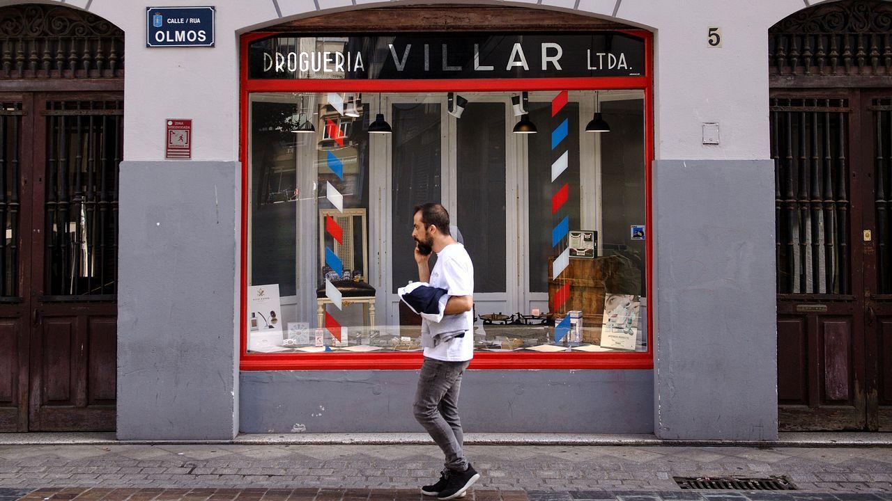 Interior de un bar abierto ayer en Vitoria