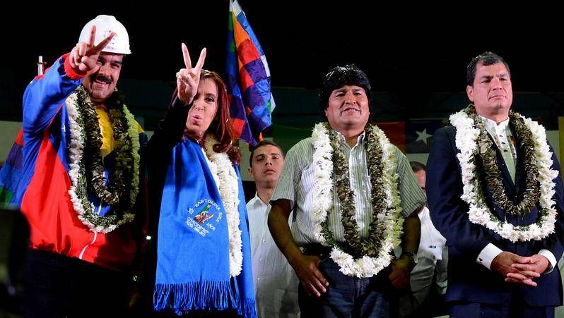 Maduro, Fernández, Morales y Correa