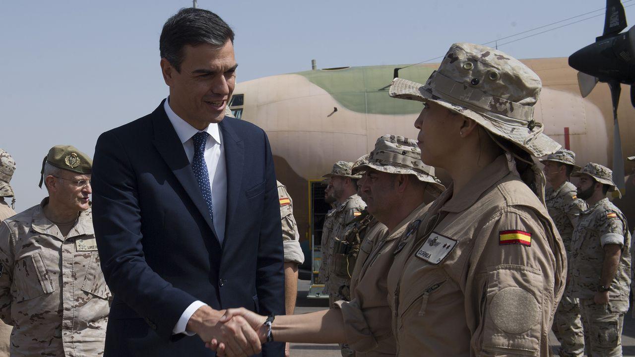 La visita de Pedro Sánchez a Mali.Brigada de salvamento minero