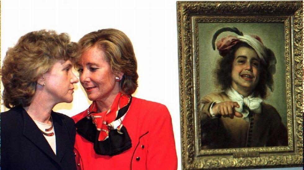 Junto a la alcaldesa de Sevilla, en 1996, Soledad Becerril.