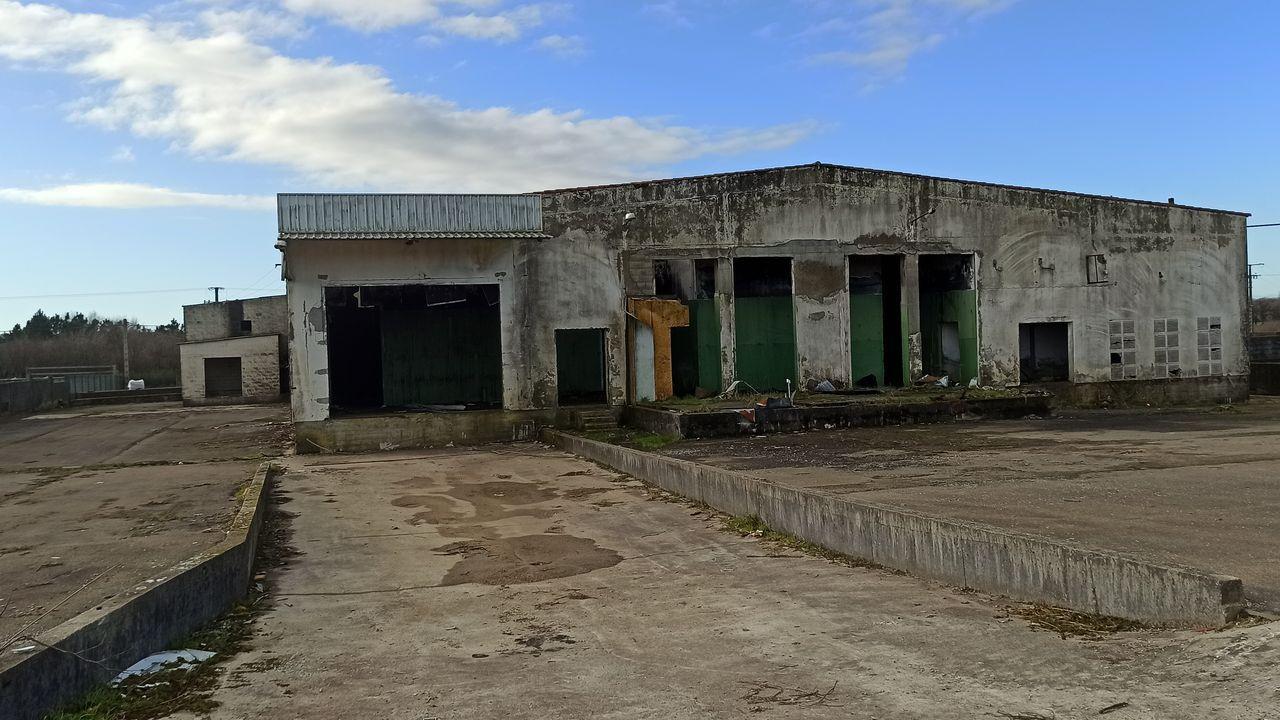 El matadero de A Pereira en el 2021.Vista aérea de Maroñas, en Mazaricos