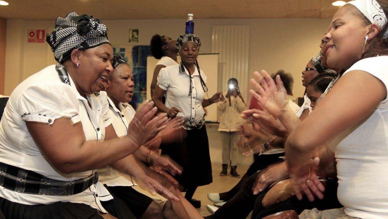 Mulleres caboverdianas de Burela formaron Batuko Tabanka a finais do século XX