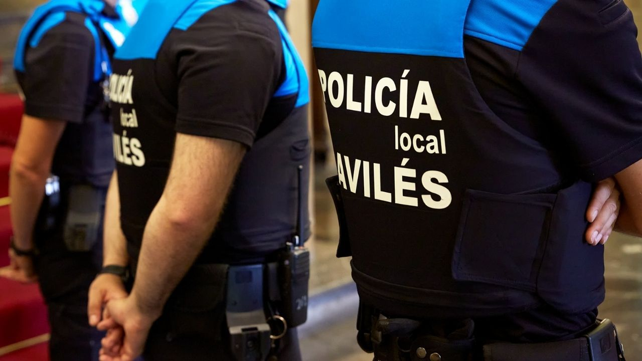 Agentes de la Policía Local de Avilés