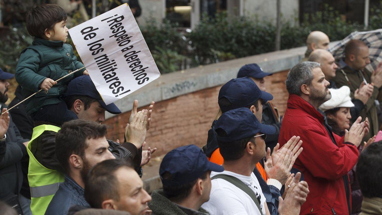Imagen de archivo de una protesta la Asociacion Unificada de Militares Españoles (AUME) en Madrid