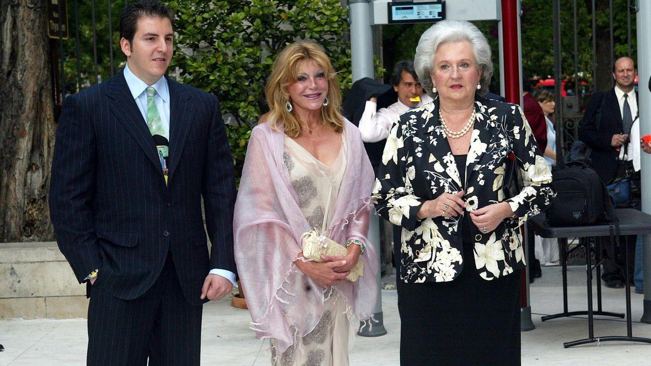 Con la baronesa Thyssen en el acto de inauguración del museo en el año 2004