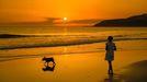 Puesta de sol en Lires (Cee)
