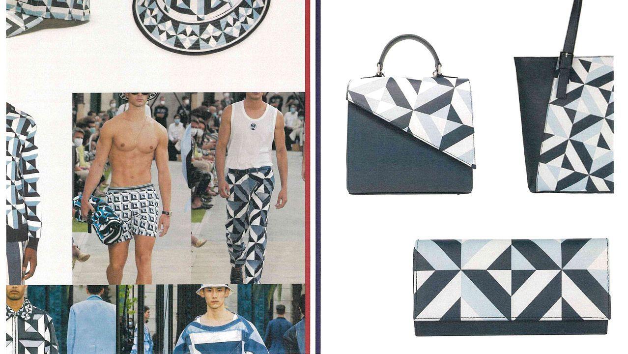 Composición donde se puede ver los parecidos entre los diseños de Sargadelos y las prendas de Dolce&Gabbana