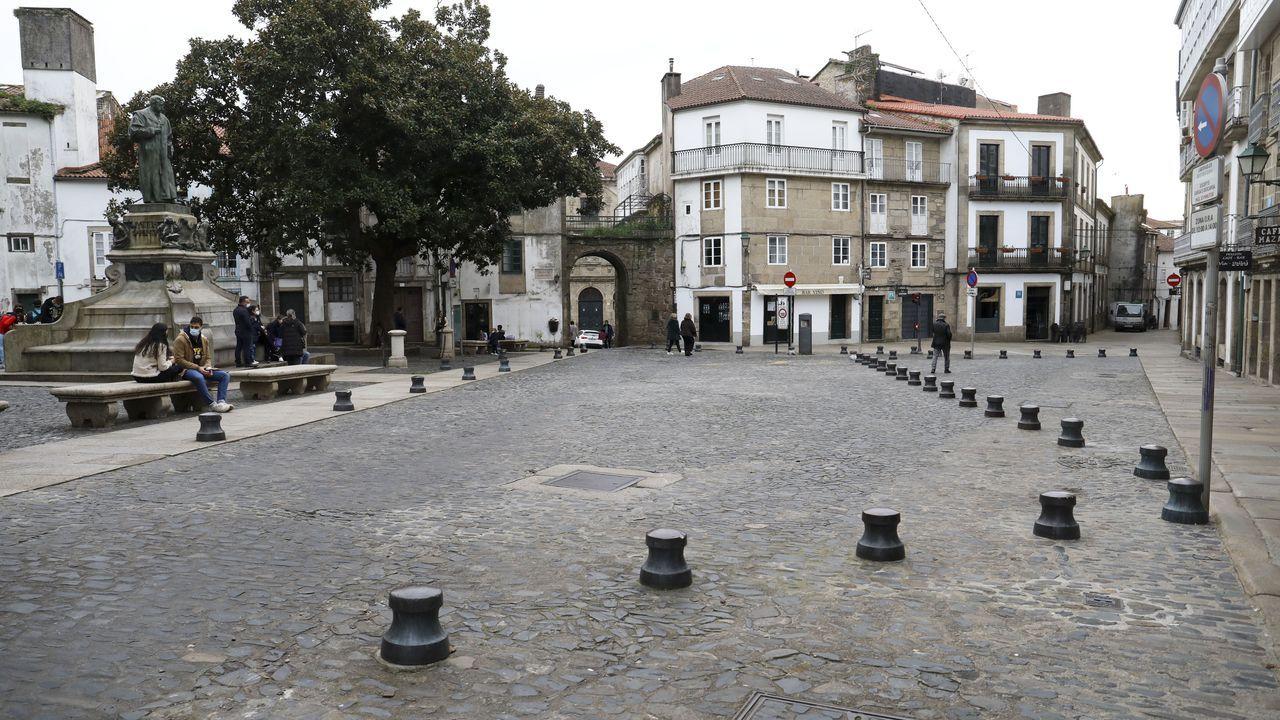 La peatonalización cambió por completo el aspecto de la zona, sin apenas coches por la tarde