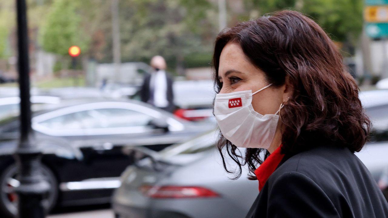 Ángel Gabilondo:«No lo he logrado. Y lo lamento».La presidenta de la Comunidad de Madrid, Isabel Díaz Ayuso, este miércoles, en un acto de campaña
